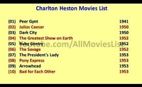 Charlton Heston Movies List
