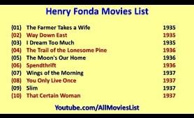 Henry Fonda Movies List