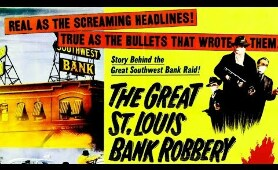 THE GREAT SAINT LOUIS BANK ROBBERY // Steve McQueen // 1959 // Full Crime Movie // HD // 720p