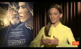 The Homesman Interview With Tommy Lee Jones and Hilary Swank [HD]