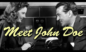 Meet John Doe - Full Movie | Gary Cooper, Barbara Stanwyck, Edward Arnold, Walter Brennan
