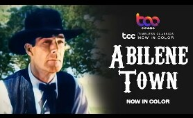 ABILENE TOWN (Full Movie) - Randolph Scott - Ann Dvorak - TCC AI Color