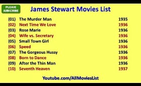 James Stewart Movies List