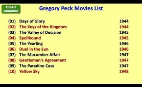 Gregory Peck Movies List